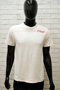 Maglia-SUNDEK-Uomo-Taglia-Size-S-Maglietta-Shirt-Man-Manica-Corta-Bianco-Slim