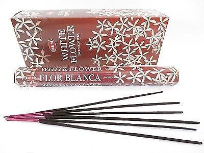 WHITE FLOWER von HEM BIG PACK 6 x 20 Räucherstäbchen Original Indien Incense