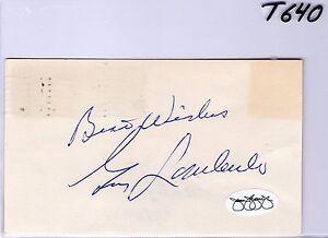 GUY LOMBARDO JSA COA AUTO INDEX CARD SIGNATURE - BIG BAND VIOLINIST D1977 - T640