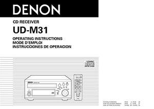 denon ud m31 cd receiver owners manual ebay rh ebay com Whirlpool Galaxy M31 Gun