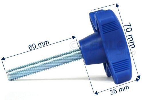 schwarzTrailer Kreuzgriff Sterngriff blau ⚓ Sterngriffschraube M10x60 ➔ rot