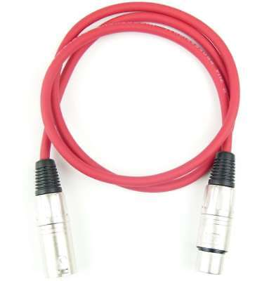 1 M Mikrofonkabel Adam Hall K3 Mmf 0100 Rot Xlr Xlr 3 Pol Dmx Mikrofon Kabel Pro-audio Equipment