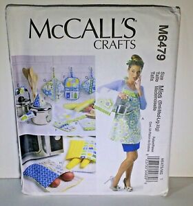 McCall-039-s-Crafts-Pattern-M6479-Size-S-XL-Apron-Towel-Potholders-Microwave-Bag-ect