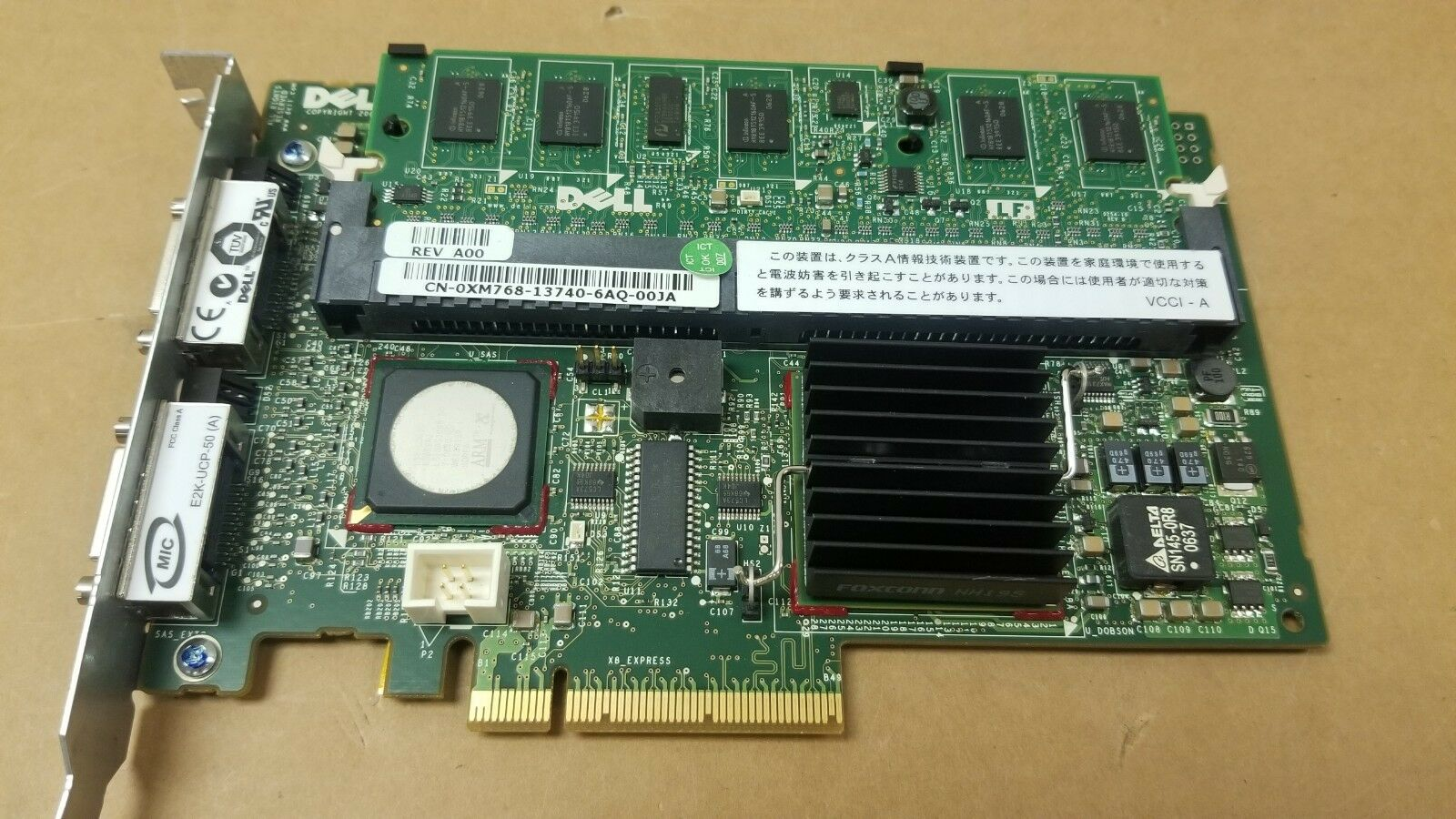 Dell XM768 PERC 5/E Dual Channel 256MB SAS Raid Controller with Battery