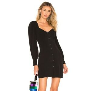 About Us Revolve Giselle Mini Long Sleeve Button Down Black Dress Size Large Ebay Long sleeve dresses are in stock at windsor for winter! ebay