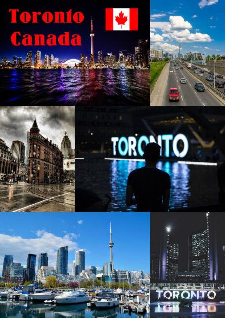 Toronto, Canada - Souvenir Nouveauté AIMANT de Réfrigérateur - Sites /Drapeaux/