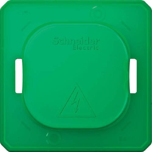 1 Stk Merten Schmutzabdeckung für Schalter und Steckdose grün MEG3900-0000