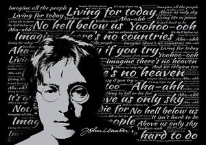 Image Is Loading John Lennon Imagine Lyrics Poster English Singer Peace