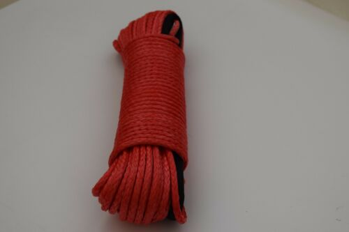 1//4inch*100feet Red Synthetic Winch Rope,Plasma Winch Cable,ATV UTV Winch Line