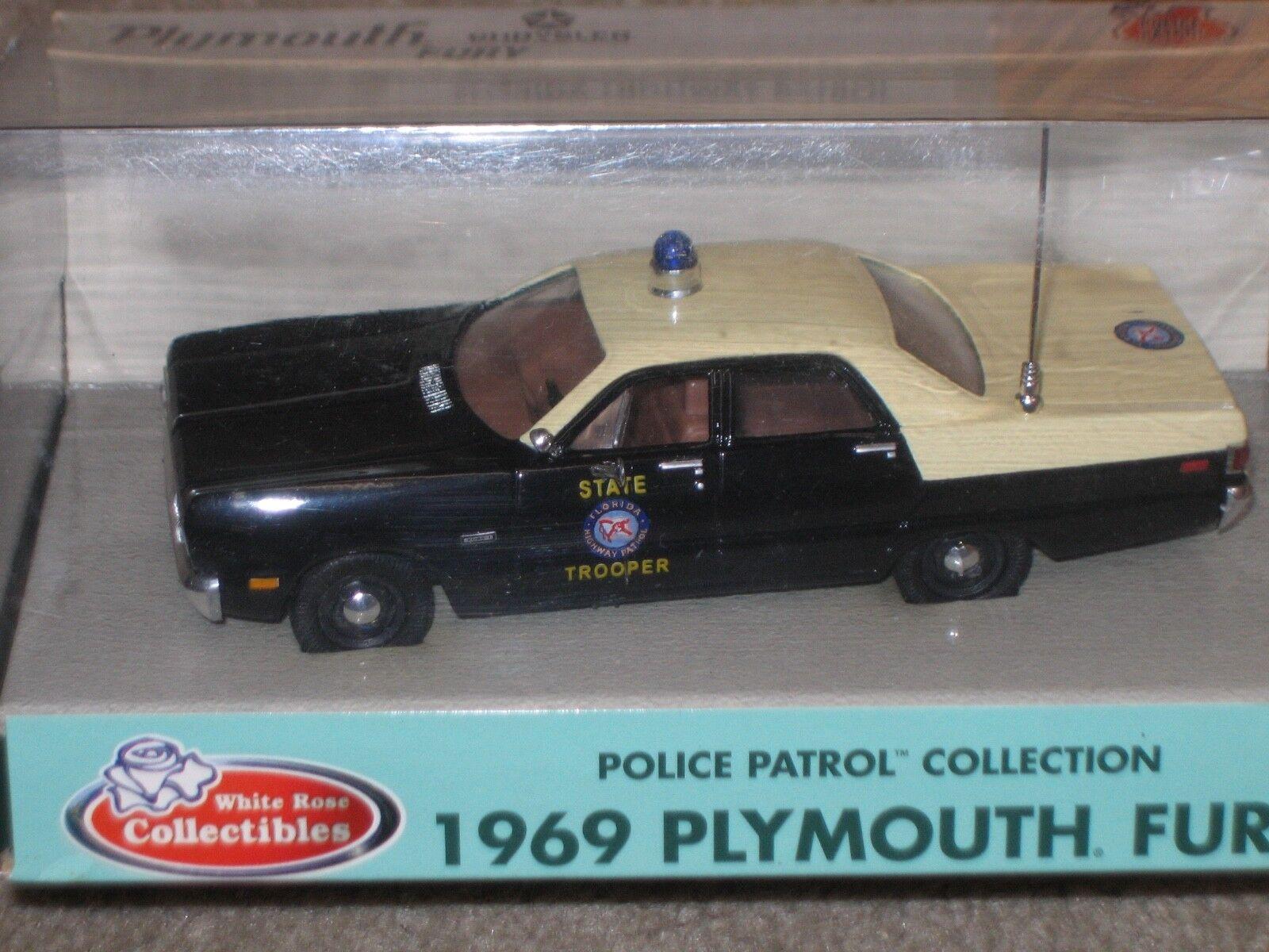 White White White pink Florida Highway Patrol 1969 Plymouth Fury 176c75