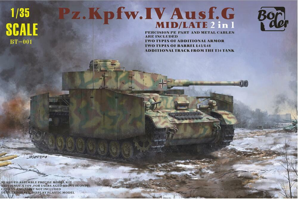 Details about Border BT001 1/35 Model Panzer IV Ausf G Mid/Late 2in1 #BT001  2019 New