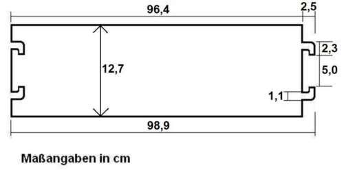 1 Kanal PVC Kabelbrücke Überfahrrampe Kabelkanal Überfahrschutz Kabelschutz blk