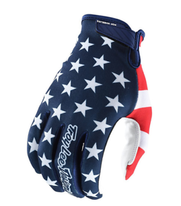 Troy Lee Designs Mountain Bike Air Full Finger Gloves Americana Navy//Red Size MD