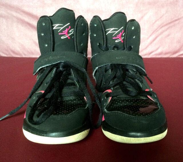 separation shoes 557d2 992e3 Girl s AIR JORDAN FLIGHT 45 Black Pink Lace-up, Sz 2.5 Youth Athletic