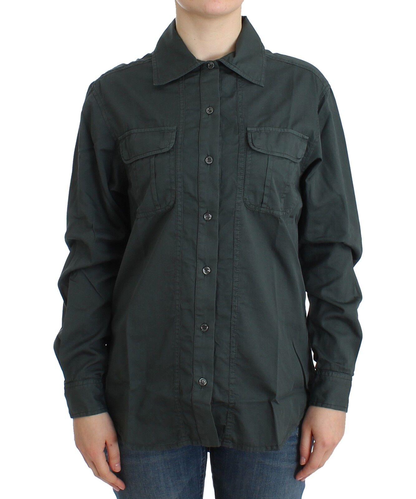 NUOVA CON ETICHETTA Just Cavalli grau camicia camicetta con bottoni 100%