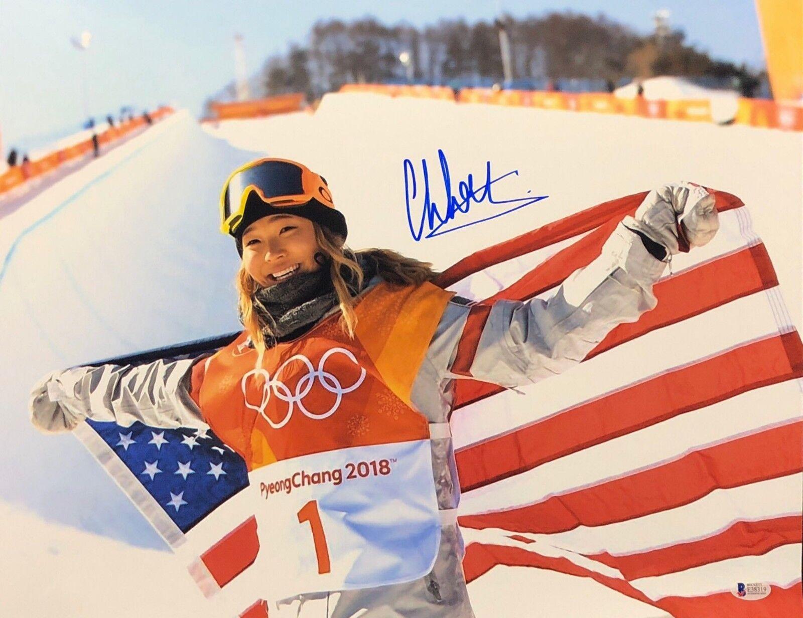 Chloe Kim Signed USA Olympics Snowboarding 16x20 Photo *Gold Medalist BAS E38319
