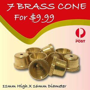 Brass cone smoking pipe bonza cone smoking pipe stem Brass Cone piece