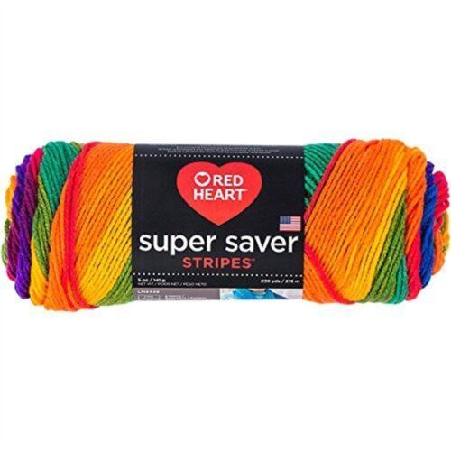 Red Heart Yarn Stripe Yarn Super Saver Favorite