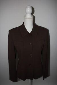 Alex-Garfield-amp-Marks-Womens-Sz-8-Brown-Blazer-Jacket-Lined-Career-Shoulder-Pads
