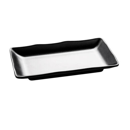 Japanese Style Sushi Tray Plate Serving Food Snack Dishes Salad Bowl Black