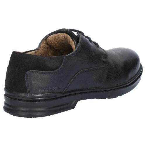 Hush Puppies Max Hanston Negro Encaje Zapatos para Hombre de Cuero Suave