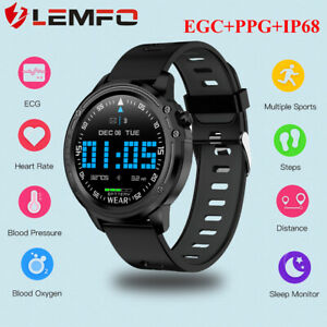 LEMFO-L8-Montre-Intelligente-ECG-PPG-camera-distance-monitor-for-Huawei-iPhone