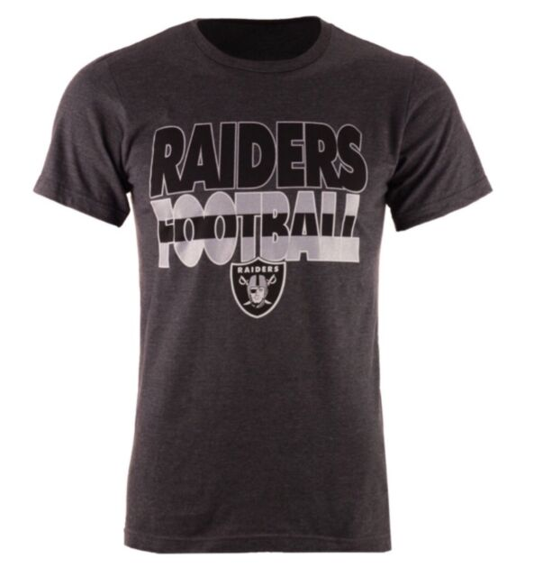 Buy Oakland Raiders Majestic XL Cover 3 Triple Peak Heather Charcoal T-shirt  online  aa5a6c241