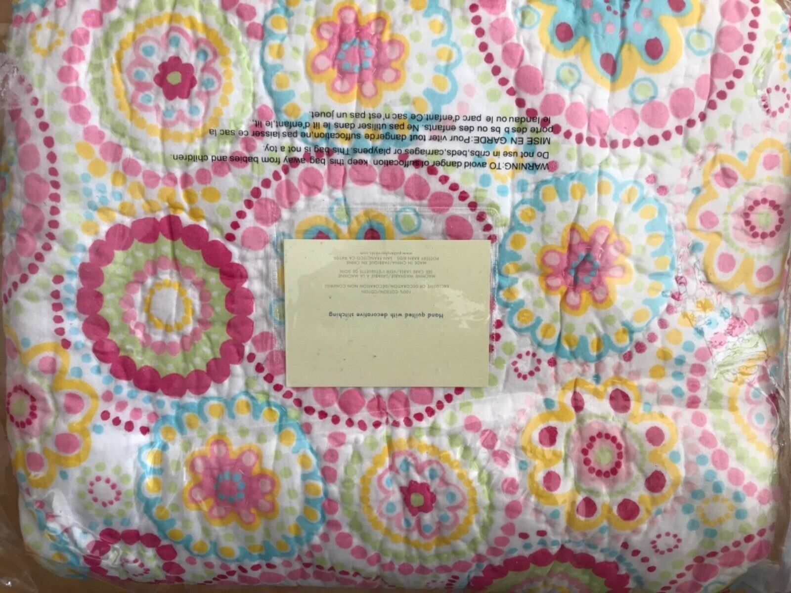 POTTERY BARN Kids AIMEE couette et standard Taie d'oreiller Twin Couleuré NEUF RARE