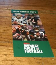 ESPN MONDAY NIGHT FOOTBALL NFL 2006 Season Schedule card Sports collectible Htf