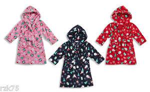 Enfants-Noel-Polaire-Robe-De-Chambre-Super-Doux-Garcon-Fille-Santa-Rudolph-Toge