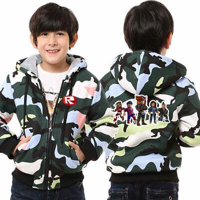 Roblox Codes For Clothes Boys Camo Roblox Print Hoodie Girls Boys Coat Thicken Fleece Sweatshirt Camo Jacket Tops Ebay