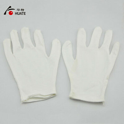 12 pairs White cotton gloves electronics factory labor job with white gloves