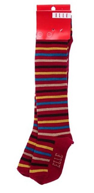 Elle girls Sz Euro 27  (4-5 yrs) *sample* NWOT funky multi coloured stripes