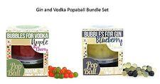 Popaball estallar las burbujas Apple & Cereza Para Vodka Arándano & Limón para Gin Set