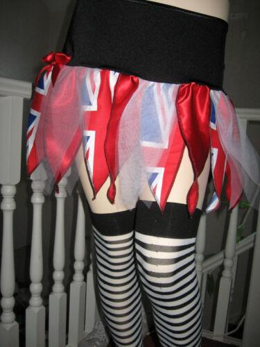 Nouveau Adulte Bleu Noir Rouge Blanc Union Jack Tutu Pétale Jupe toutes tailles team GB