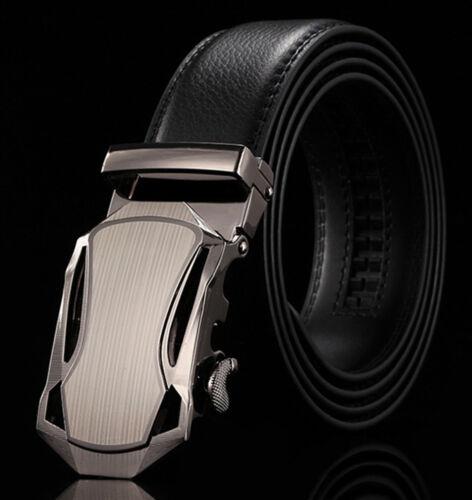 Automatic-Buckle-Designer-Belts-for-Men-Genuine-Leather-Belt-BLACK-Waist A-09