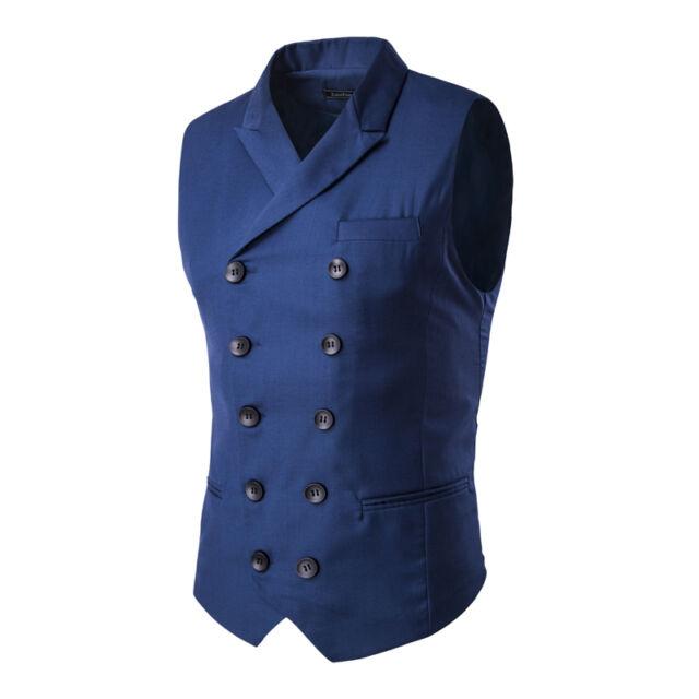 Herren V-Neck Weste Clubwear Party Hochzeit Anzug Jacke Hemd Sakko Vest  9273