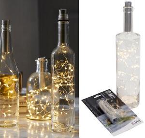 15er LED Flaschenbeleuchtung Korken Lichterkette Batteriebetrieb