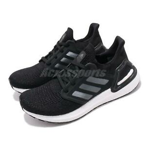 adidas-UltraBOOST-20-W-Black-Silver-White-Womens-Running-Shoes-Sneakers-EG0714