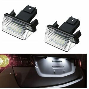 ECLAIRAGE-PLAQUE-LED-CITROEN-C5-1-DS4-amp-CROSSBACK-SAXO-SPACETOURER-XSARA-BLANC