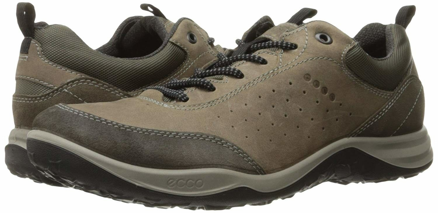 ECCO Men's Esphino Low Hiking shoes Warm Grey Stone sneakers sz 46   US 12-12.5