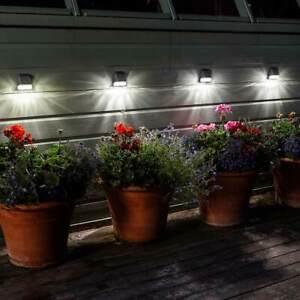 Solar-Power-Super-Bright-Cloture-Mur-Post-Light-PASSERELLE-jardin