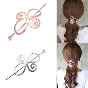 Fashion-Women-Hair-Slide-Ponytail-Holder-Pin-Clip-Dress-Heart-Hair-Stick-Salable
