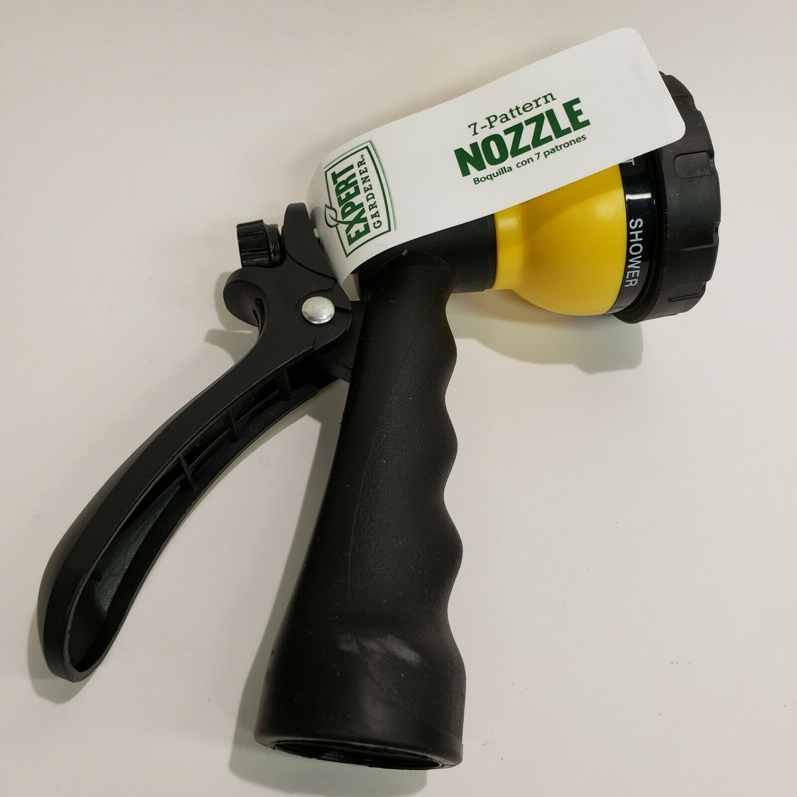 NEW Hose Nozzle 7 pattern Metal body Adjustable YELLOW - NEW NWT