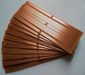 10pcs 4.8x13.4cm Stripboard Prototype paper circuit Board  Breadboard vero pcb