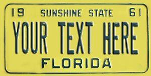 Vintage florida license plate
