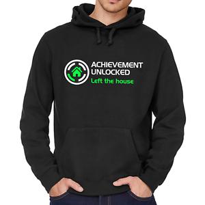 ACHIEVEMENT-UNLOCKED-Left-the-house-Geek-Gamer-Nerd-Fun-Kapuzenpullover-Hoodie