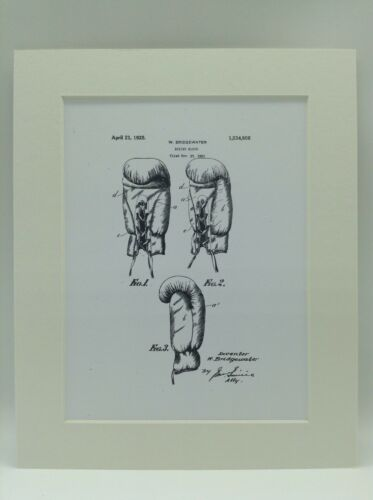 Vintage Patent Print Drawing Boxing Glove Display 1925 10 X 8 TYSON ALI