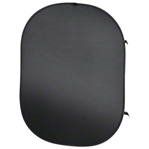 auf ein Drittel faltbar walimex Falthintergrund schwarz 150x200cm mit Tasche