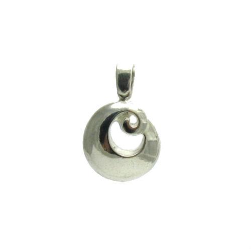 Pendentif en Argent Sterling Massif 925 Spirale PE000974 EMPRESS